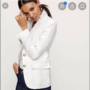 J crew linen white blazer